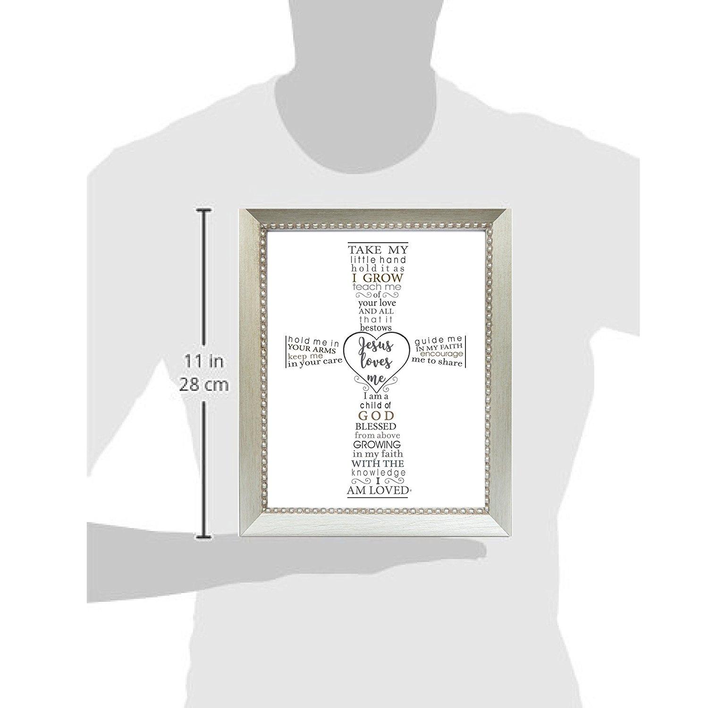Silver Frame The Grandparent Gift Jesus Loves Me Frame for Babys Baptism or Christening