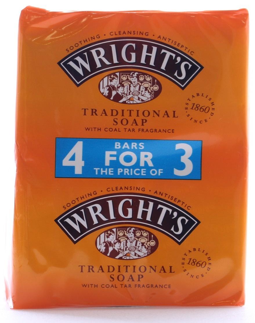 Wright`s Coal Tar Soap 4-pack