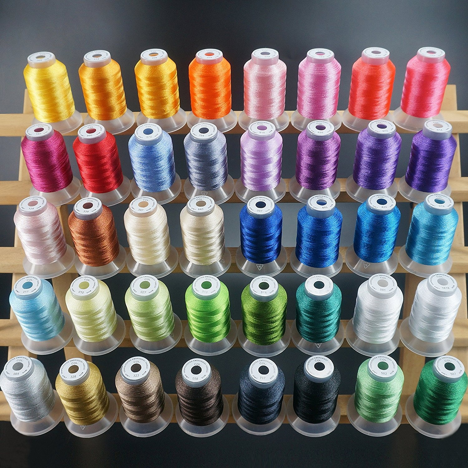New brothread 40 Brother Colours Polyester Machine Embroidery Thread Kit 500M