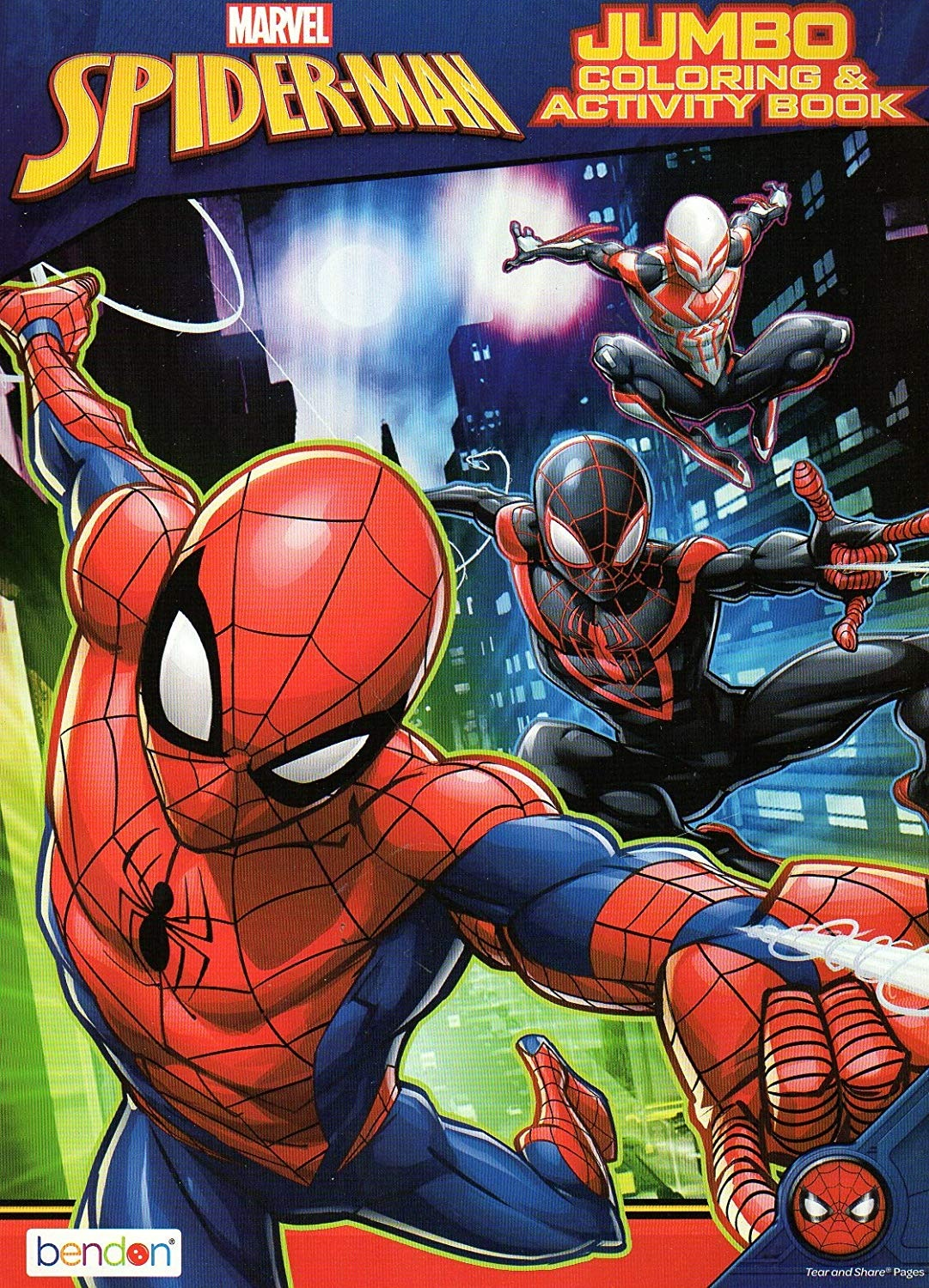 Marvel Spider-Man Jumbo Colouring and Activity Book - v6