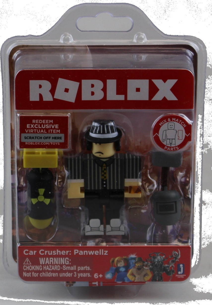 Redeem Roblox Virtual Item Roblox Roblox Car Crusher Panwellz Single Figure Core Pack With Exclusive Virtual Item Code By Roblox Shop Online For Toys In The United States