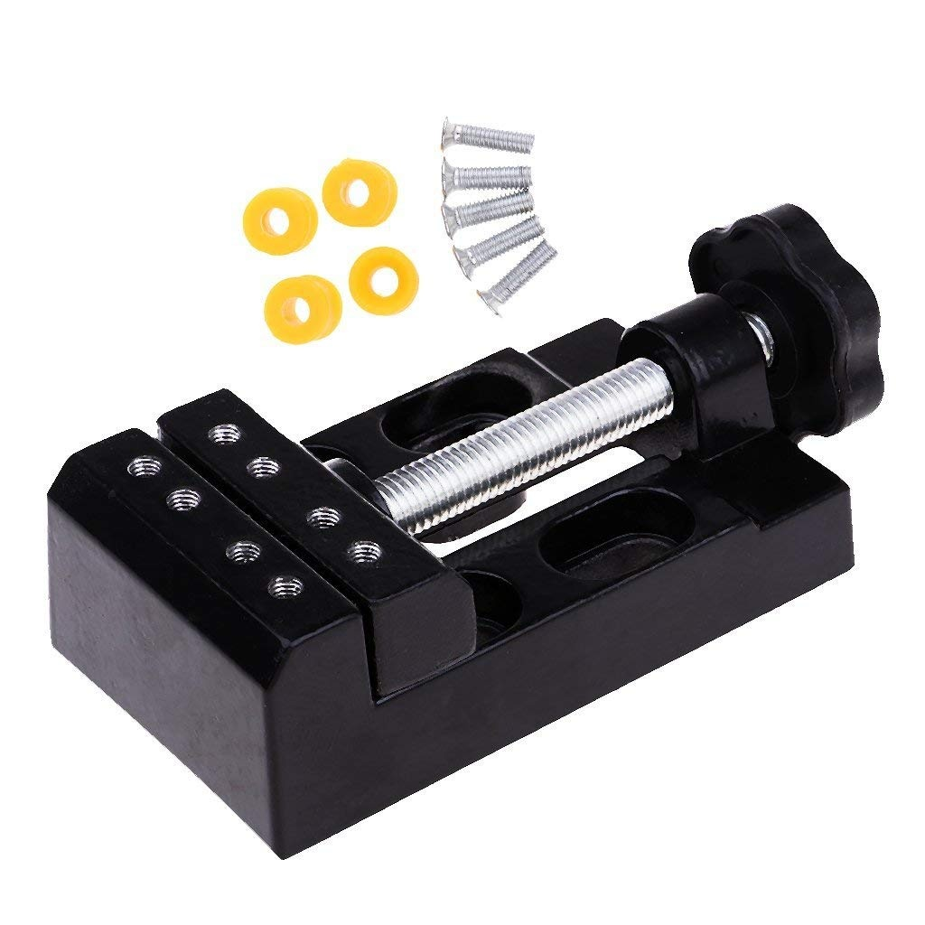 Black Jaw Bench Clamp Mini Drill Press Vice Vise DIY Hobby Toy Tools Parts