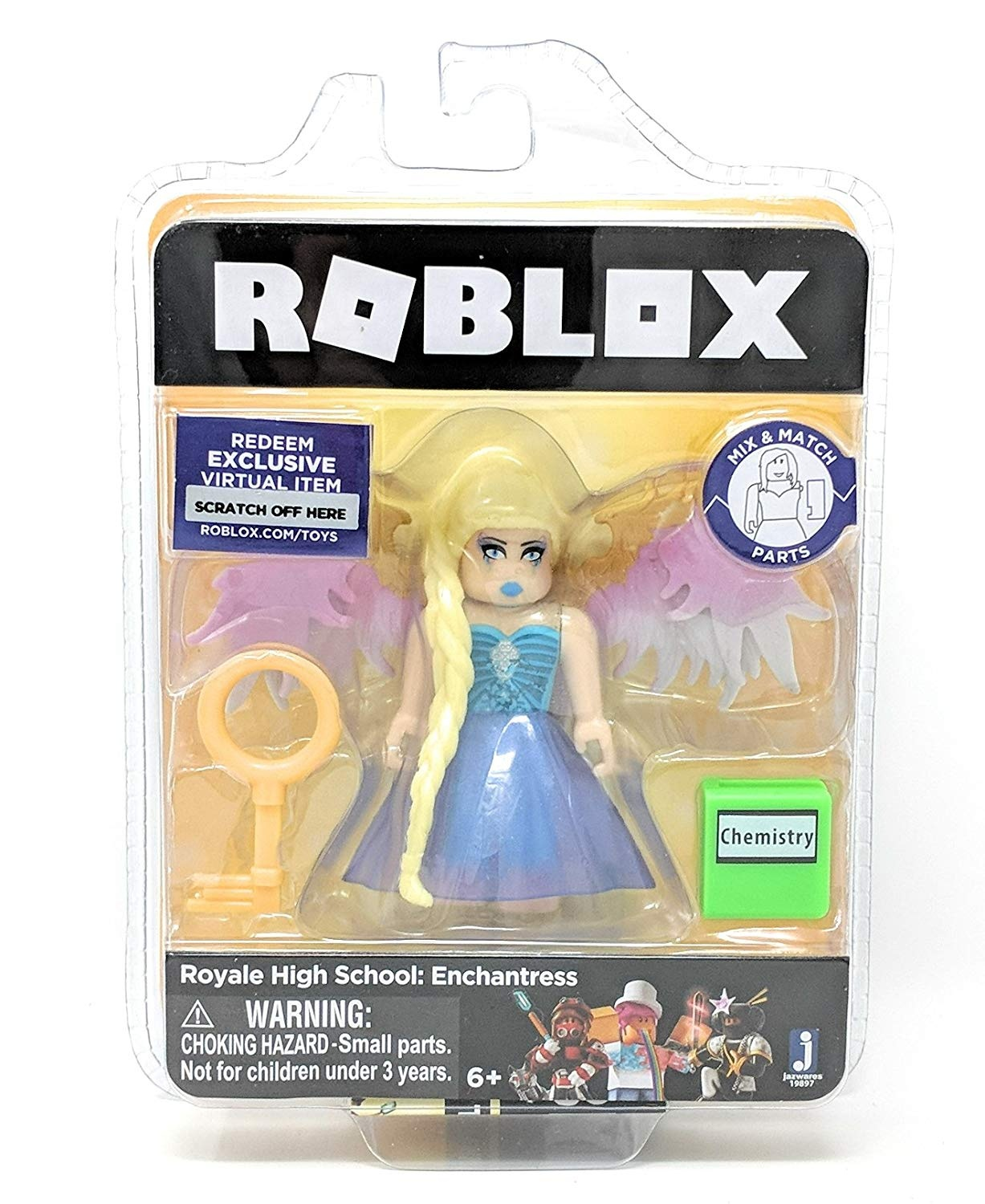 Roblox Gold Collection Royale High School Enchantress Single Figure Pack With Exclusive Virtual Item Code - all roblox redeem items