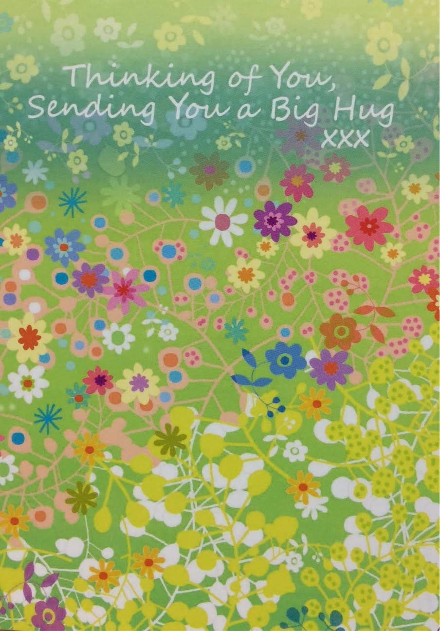 Thinking Of You Card Sending You A Big Hug Xxx Blank Inside Standard 13cm X 18cm By Great Wishes Shop Online For Arts Crafts In Japan