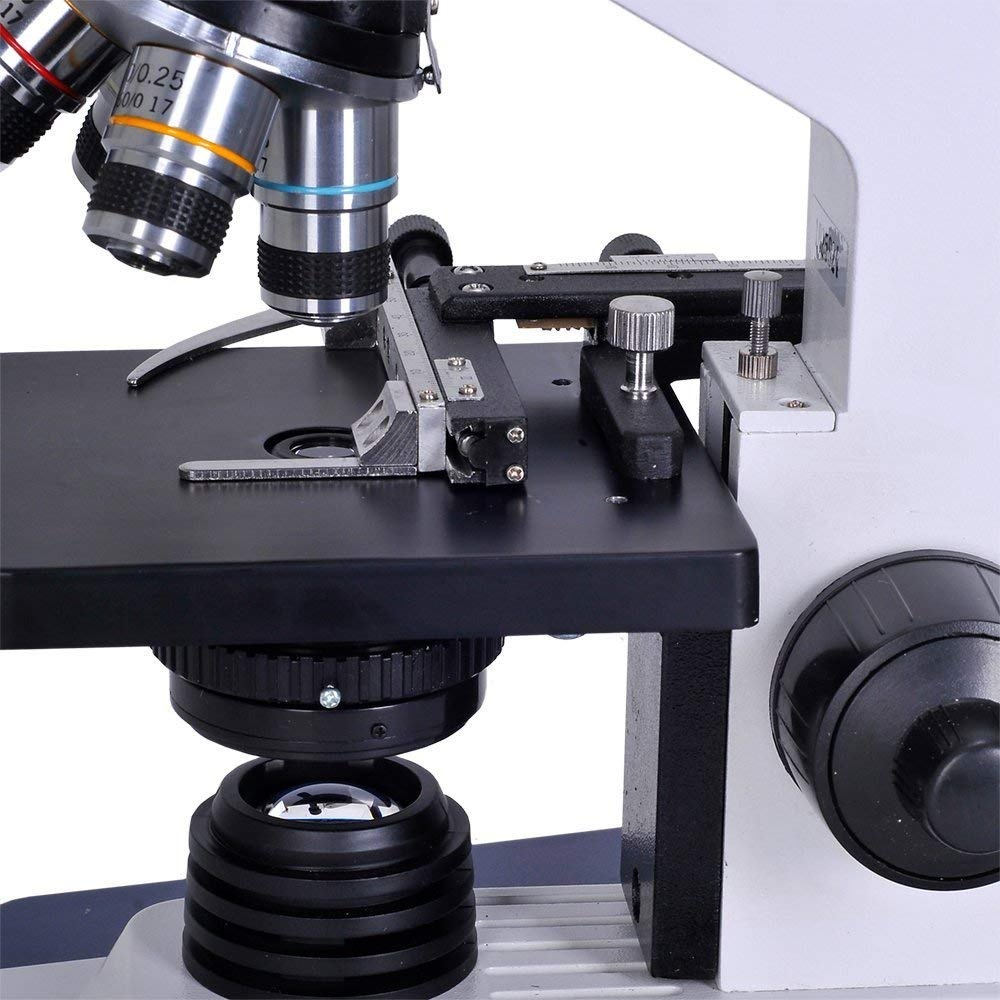 Full Size Monocular Compound Student Microscope 1.3MP Digital Microscope Camera All Metal Omano OM118M4-KK2-40X-1000X