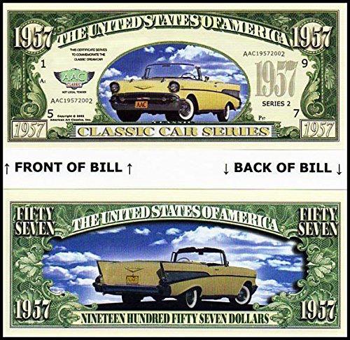 Set of 10-1965 Mustang Convertible Novelty Money Bill