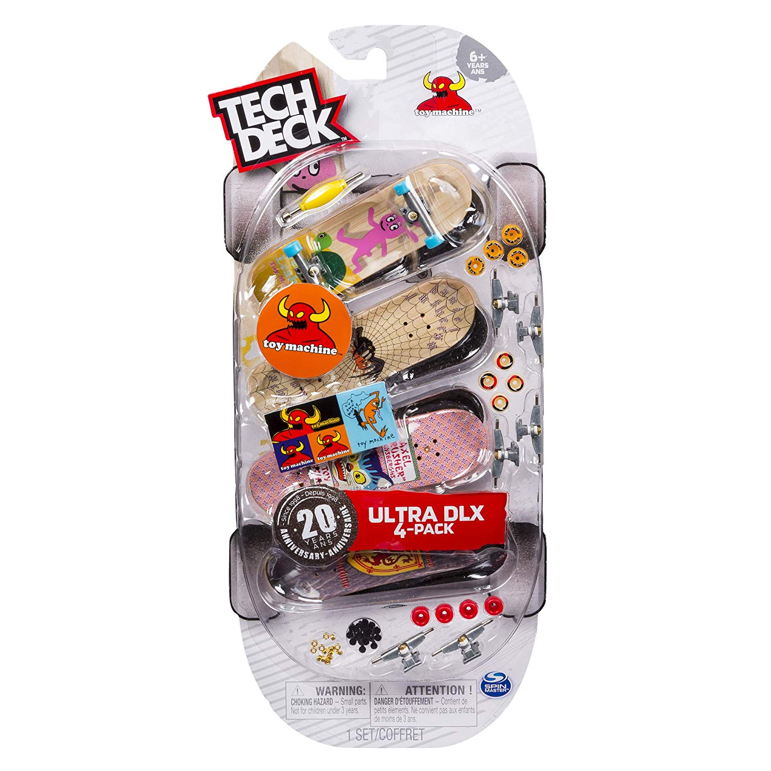 TECH DECK STARTER KIT RAMP SET AND BOARD TRAINER CLIPS  20TH ANNIVERSARY
