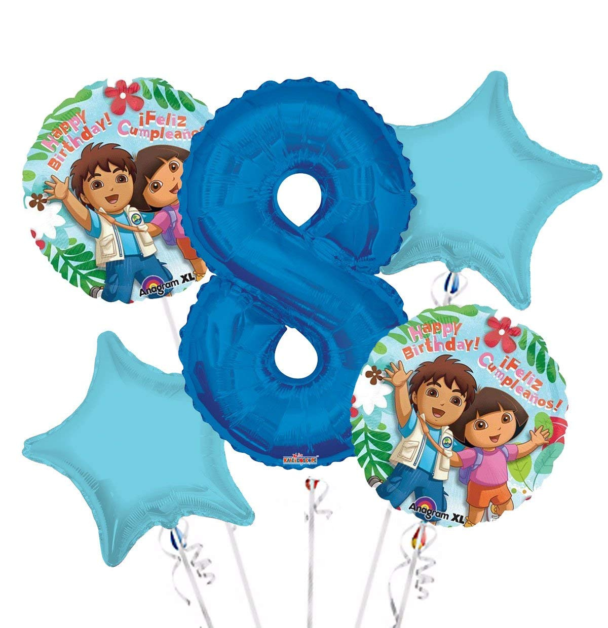 Dora Balloon Bouquet 8th Birthday 5 Pcs Party Supplies By Viva Party Shop Online For Arts Crafts In Italy