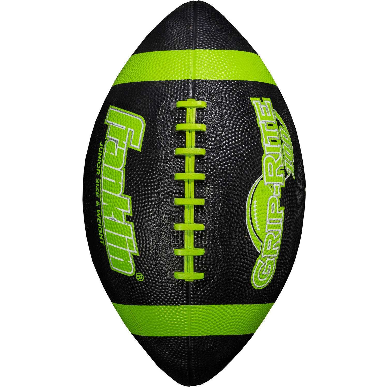 Franklin Sports Grip-Rite 100 Rubber Junior Football Lime