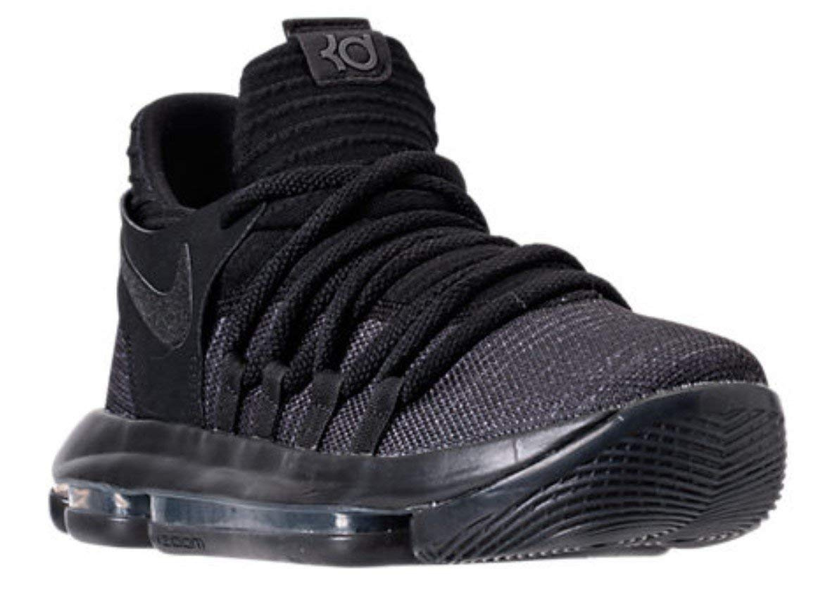 GS 918365-004 Black Dark Grey Youth SIze Basketball Shoes Nike Zoom KD10