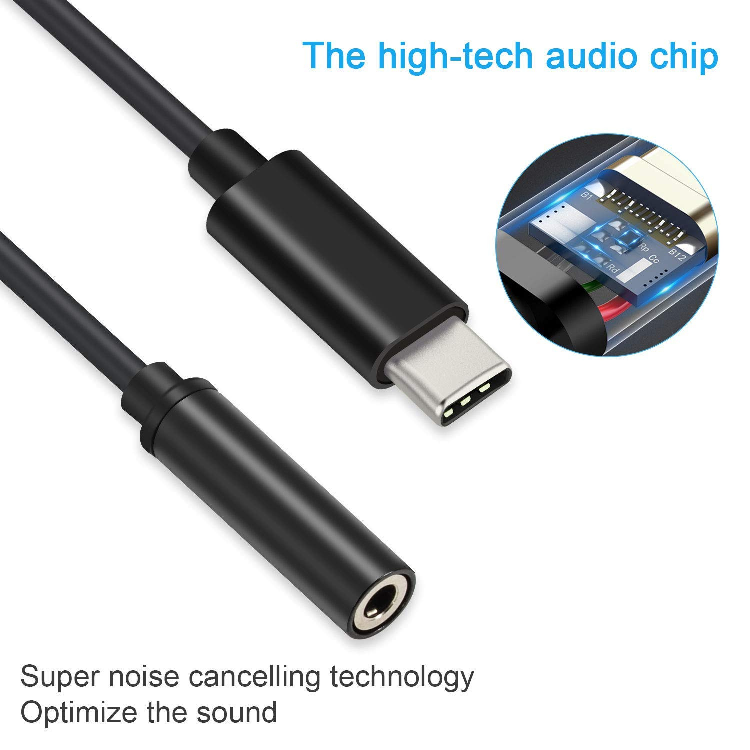 Audio Transfer Type C Aux Splitter Connector compatible for Google Pixel 2 Huawei P20 Mate 10 Pro Sony aceyoon USB C to Aux and Charger Adapter 2 in 1 USBC Headphone Jack Adaptor Charging