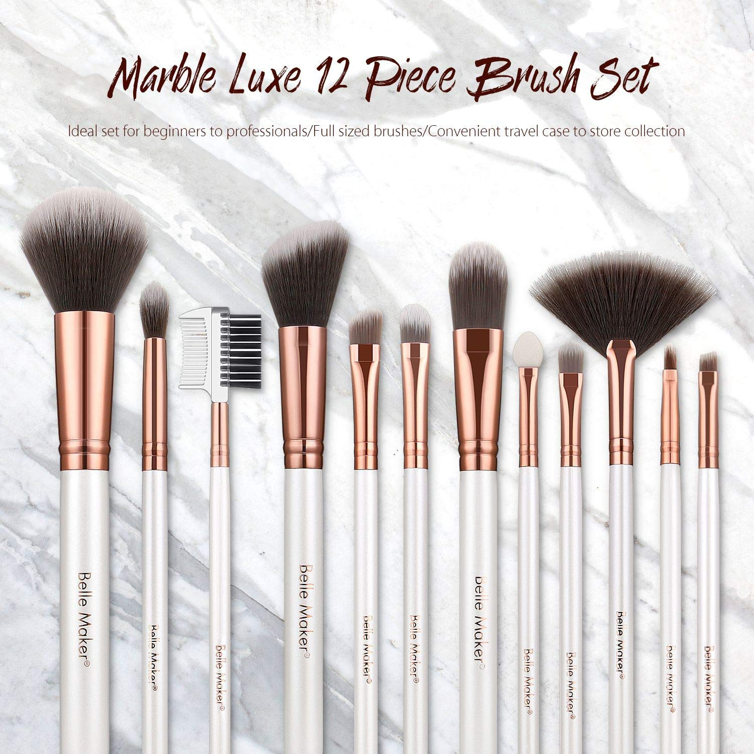 Marble Luxe Belle Maker Makeup Brushes