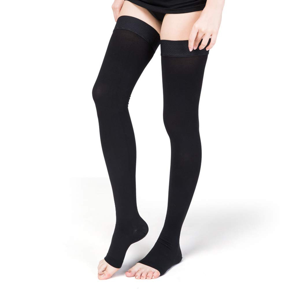 SWOLF Medical Thigh High Footless Compression Stockings Hose 20-30 mmhg for Men /& Women