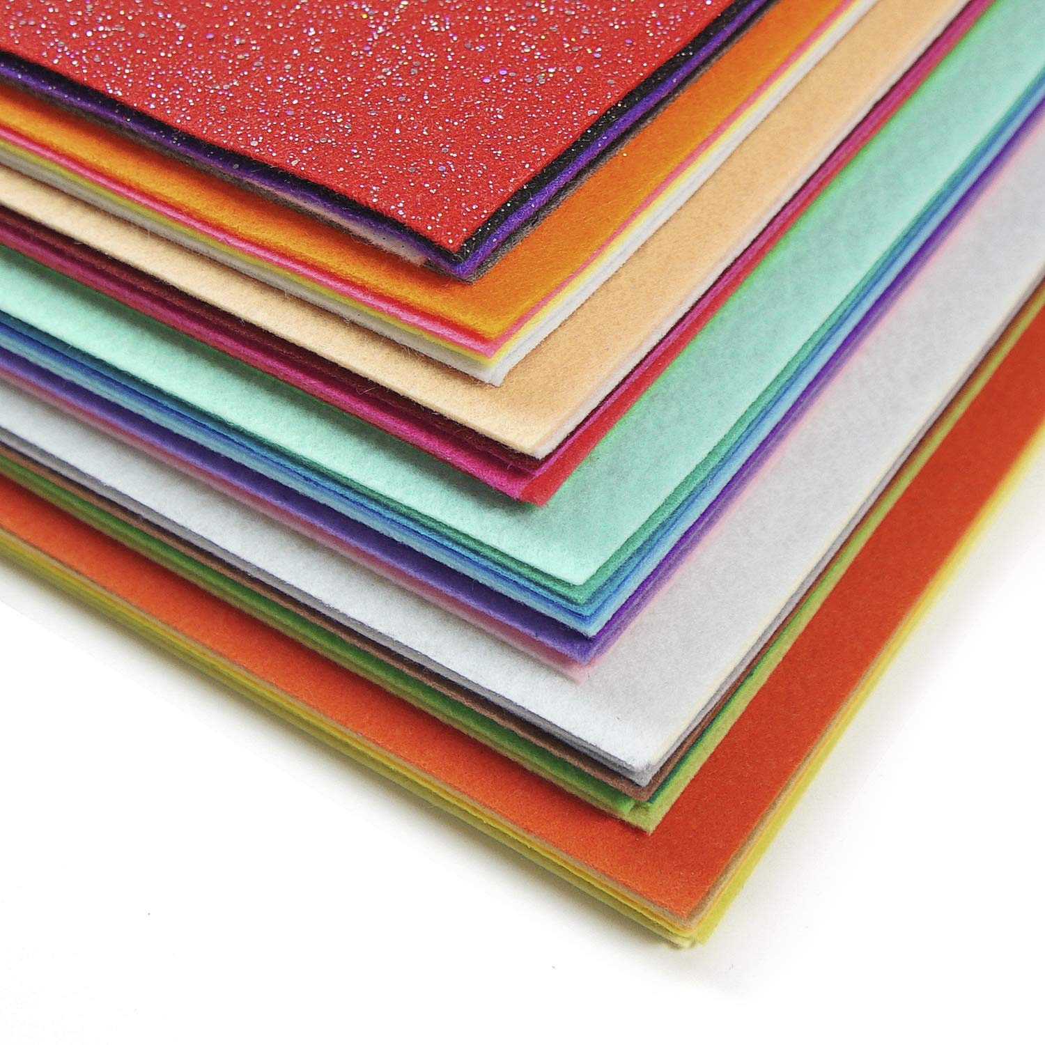 Crafting Projects Sewing 12x14 Squares ARTEZA 50 Assorted Stiff Felt Fabric Sheets 1.5mm Thick for DIY Crafts