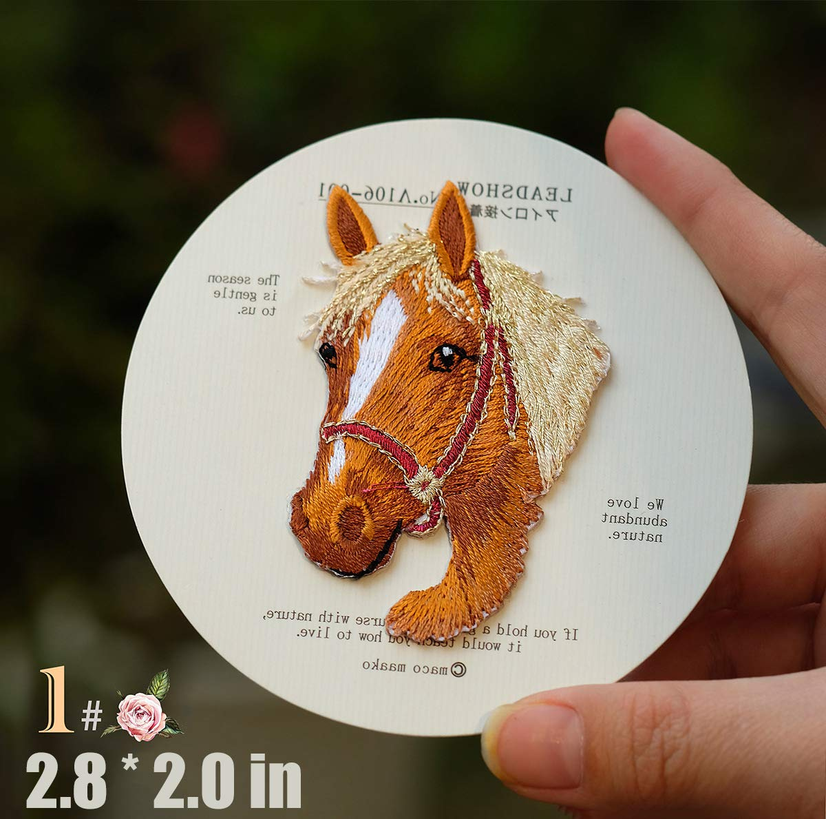Sew On Applique Patch Cute Embroidery Patches Iron On Patches Kids 2 Pcs Cute Horse Delicate Embroidered Patches Clothes Shirt Decorate Accessory DIY Patchwork Cool Patches for Men Women