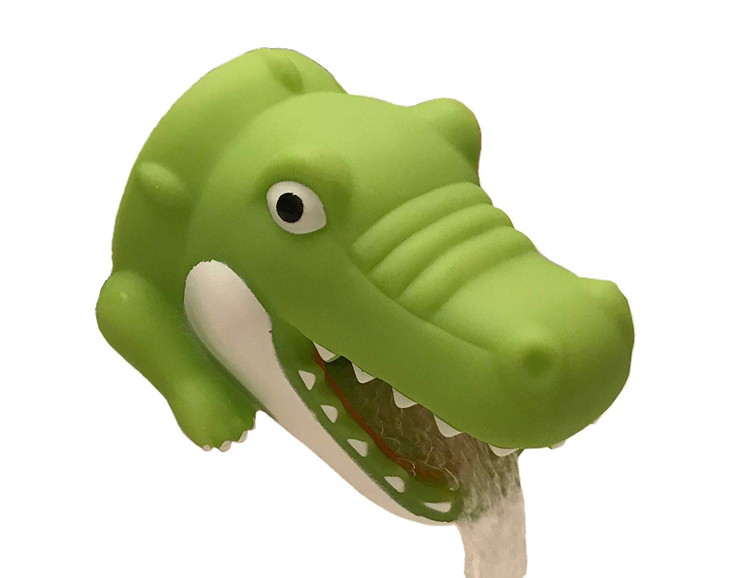 Green Crocodile Odowalker Cartoon Faucet Extender Washbasin Bath Spout Cover Cute Animal Toy Faucet Cover Bath Safety Fun for Babies Toddlers Kids Children