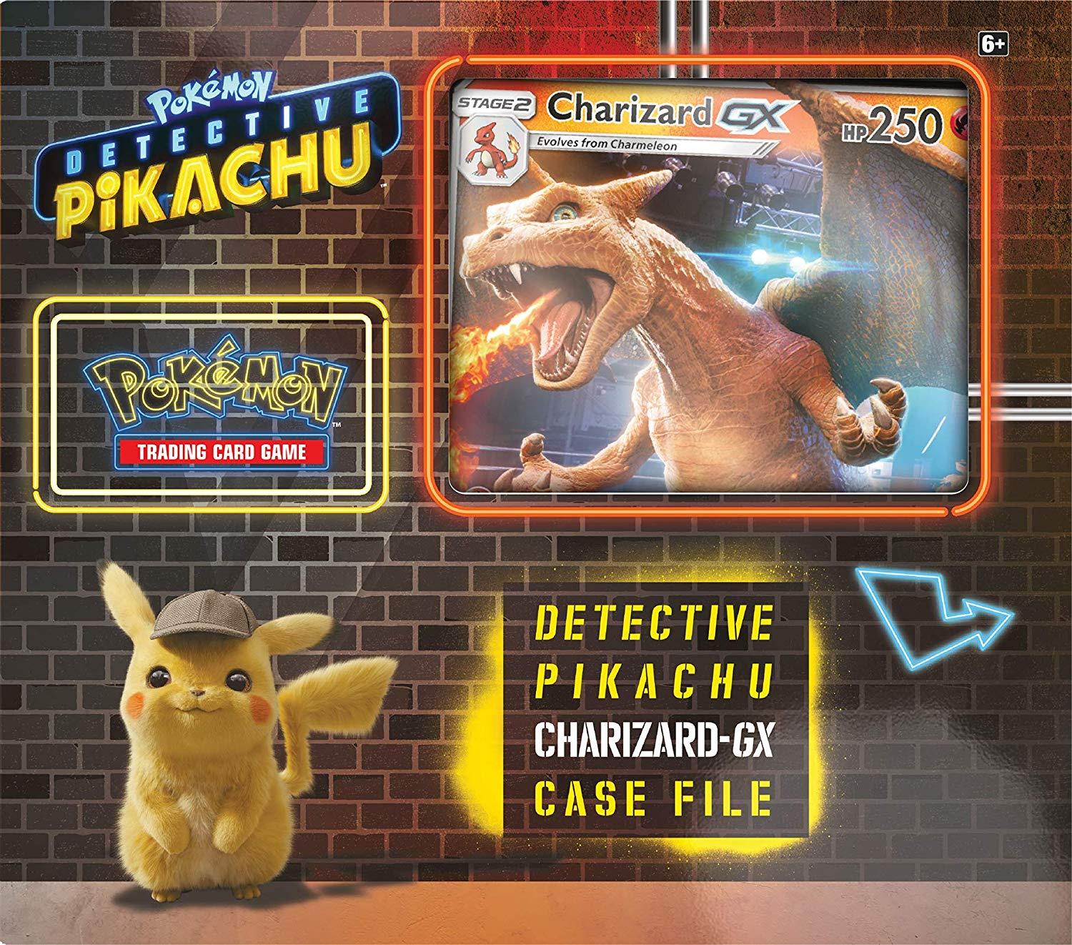 Pokemon Trading Card Game Detective Pikachu Charizard Gx Box By