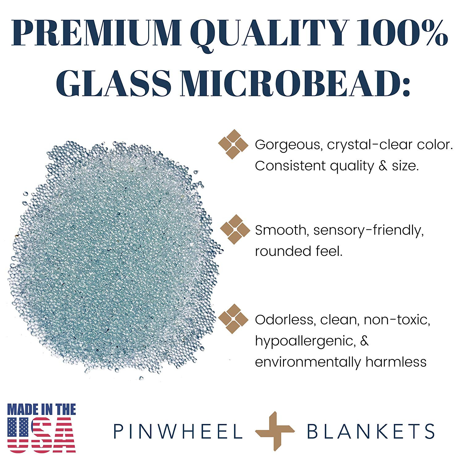 Great Beads for Weighted Blankets 10 lbs Pinwheel Premium Glass Microbeads