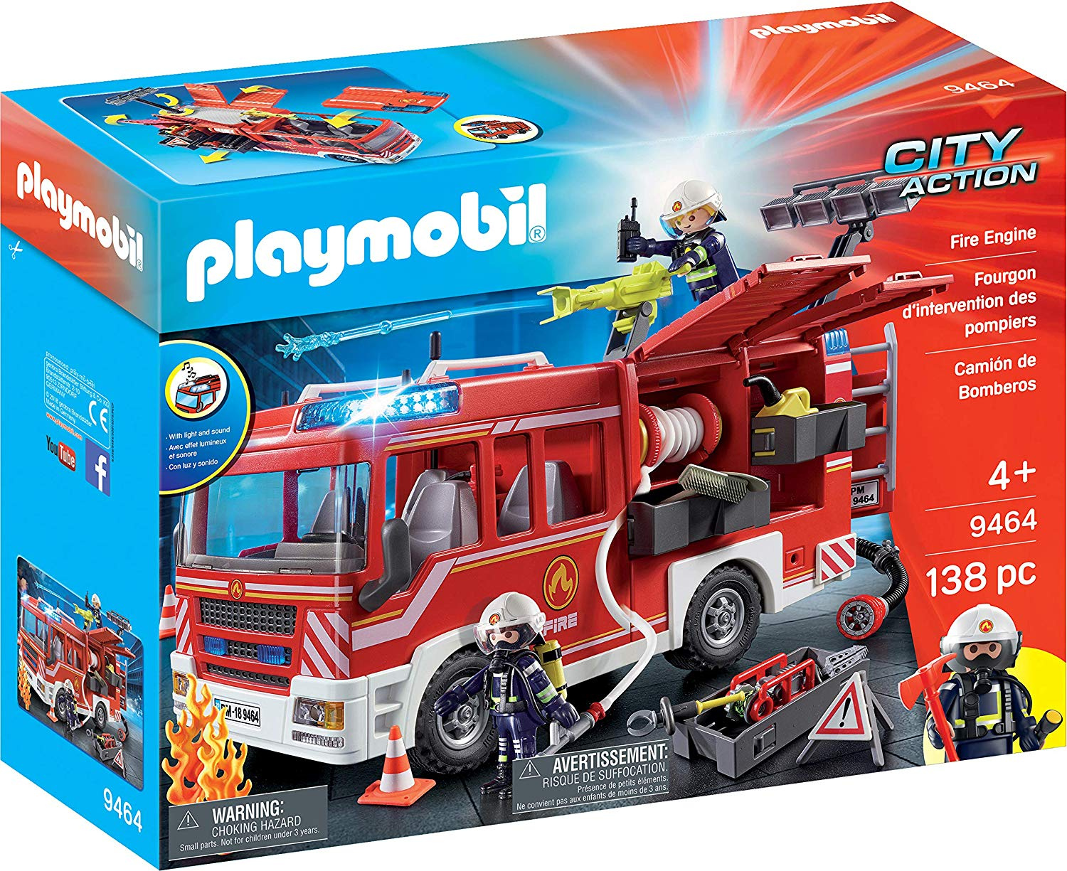 Playmobil City Action Fire Water Cannon with Tracks /& Figure 9467