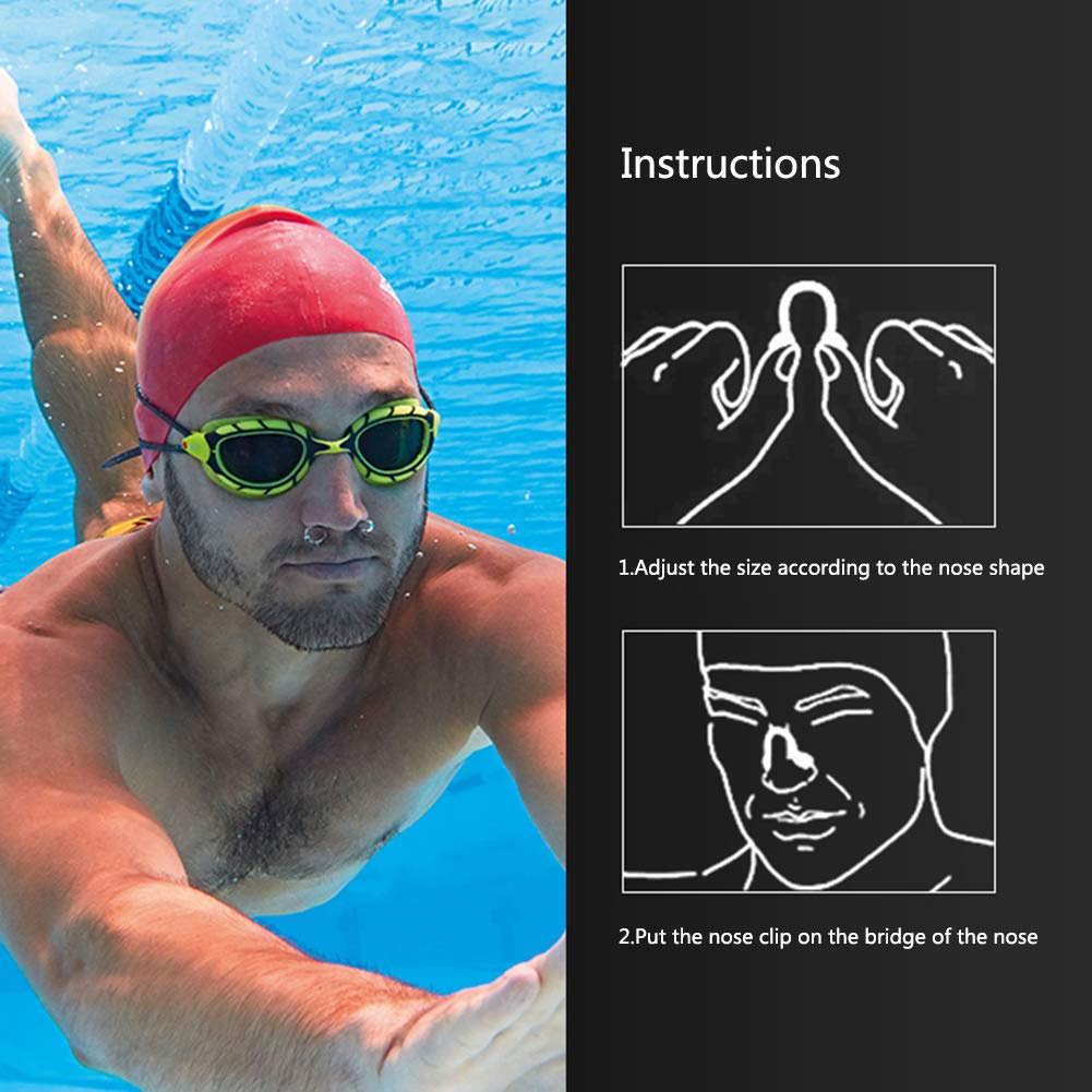 6pcs Silicone Nose Clip Clips Surfing Plug Protector Swimming Training Clips