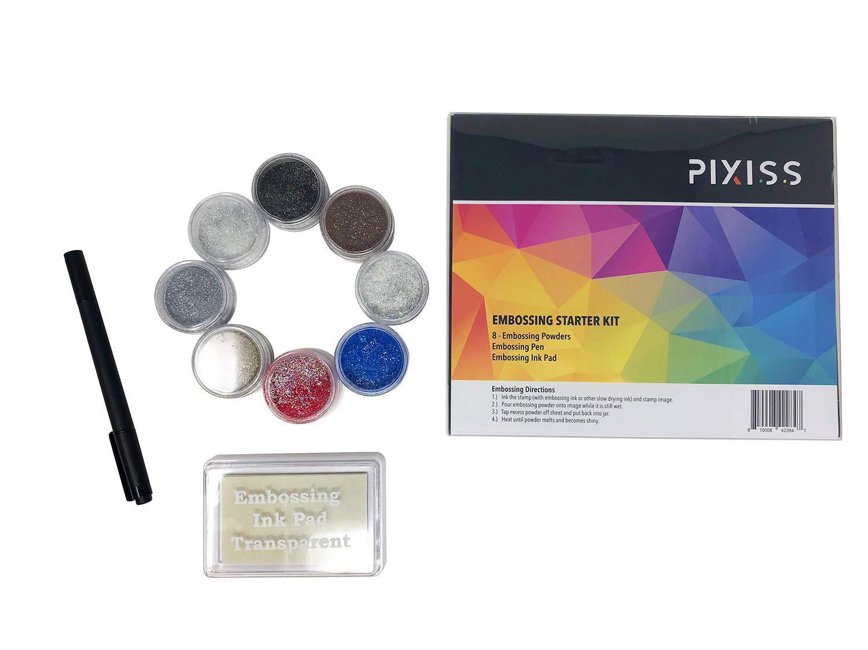 Heat Tool Machine Embossing Starter Kit Ranger Gold and Silver Powder Set Emboss It Pens