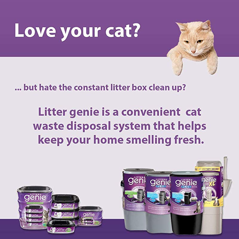 Ultimate Disposal Litter Cat System Litter Genie Plus Pail Locks Away Odors