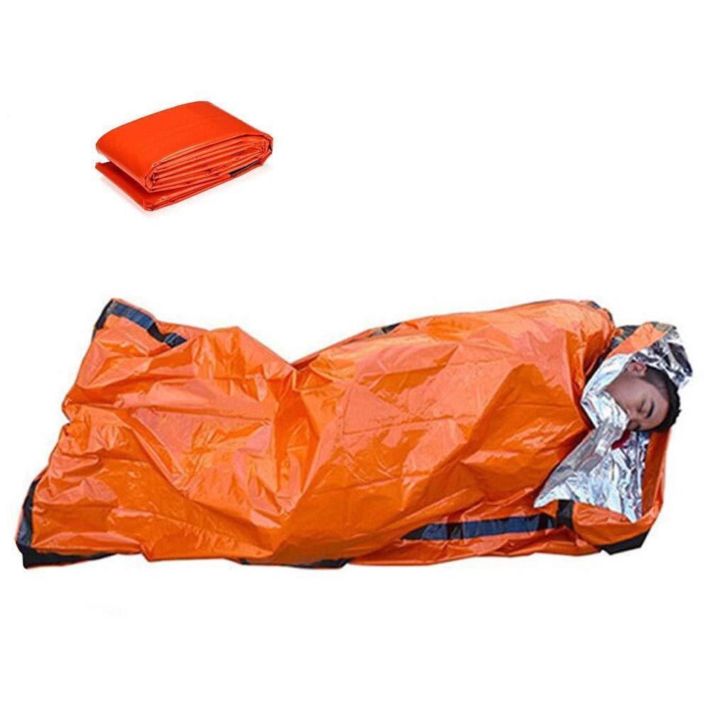 HugeStore Waterproof Emergency Thermal Blankets Survival Foil Camping Blanket Hiking First Aid Silver 5 Pcs