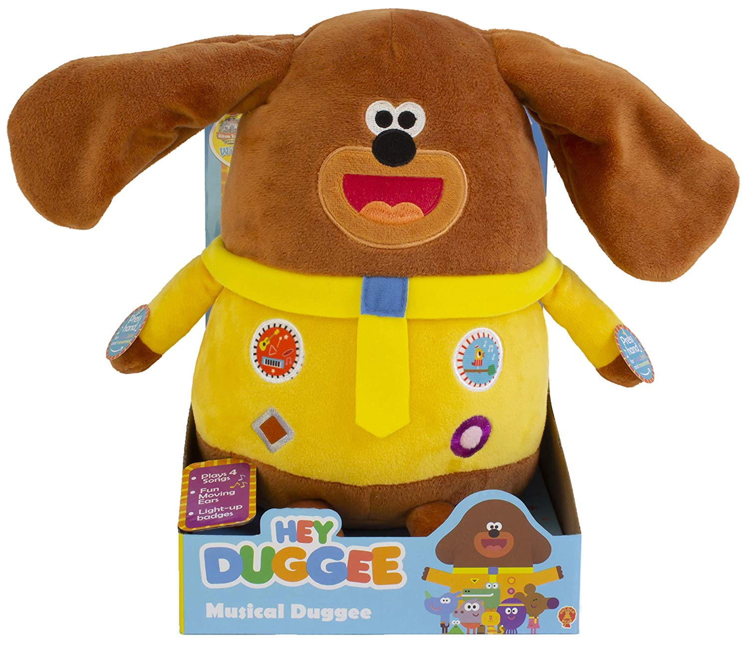 Purse and more Ideal Hanging Toy and easily Attaches To Backpack Bag Accessory Backpack Identifier Handbag Clothes 17cm Hey Duggee Clip On Keyring Soft Toy