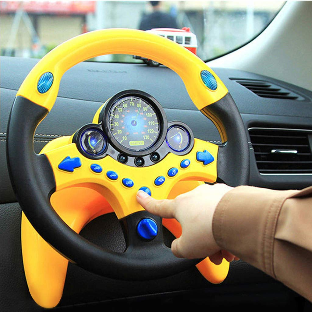Jiazhounengy Children Kids Musical Suction Cup Driving Steering Wheel Toy