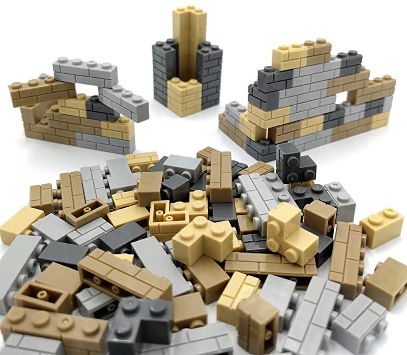 ZHX 50 PCS City Accessories Bricks Fence 1 x 4 x 2 White Picket Fence Building Block Toy