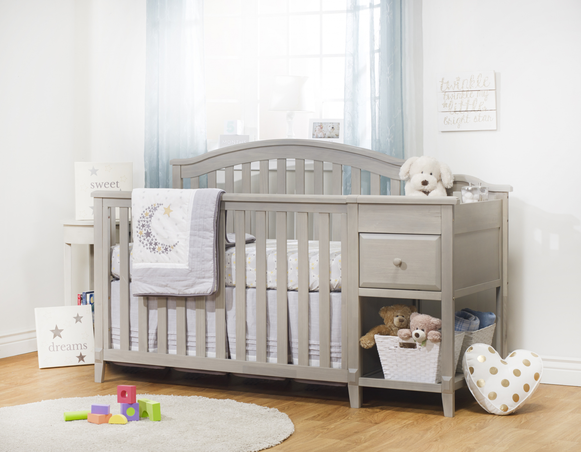 Crib And Changer Heritage Fog Finish