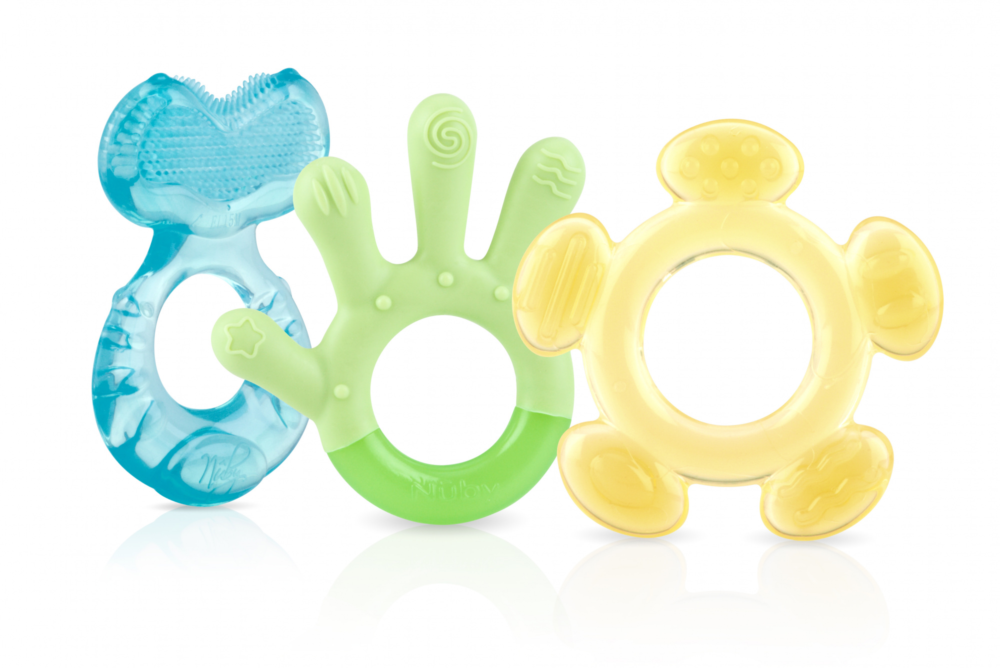 NUBY Set of 3 Baby Toddler First Toothbrush 3 Stage Teething Gum Soother Teether