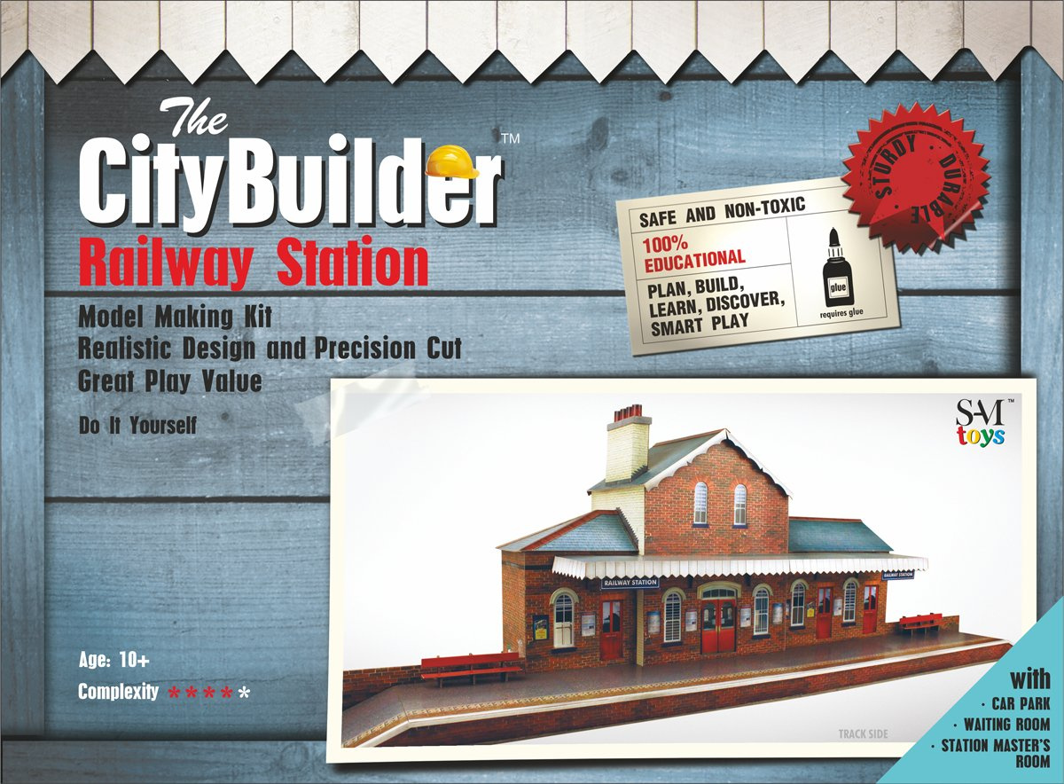 O gauge 7mm 1:43 scale Model Railway Building RAILWAY STATION Kit CityBuilder