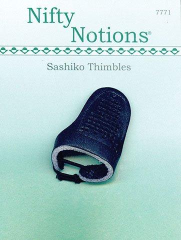 Olympus Sashiko Leather Thimble-SN-0002