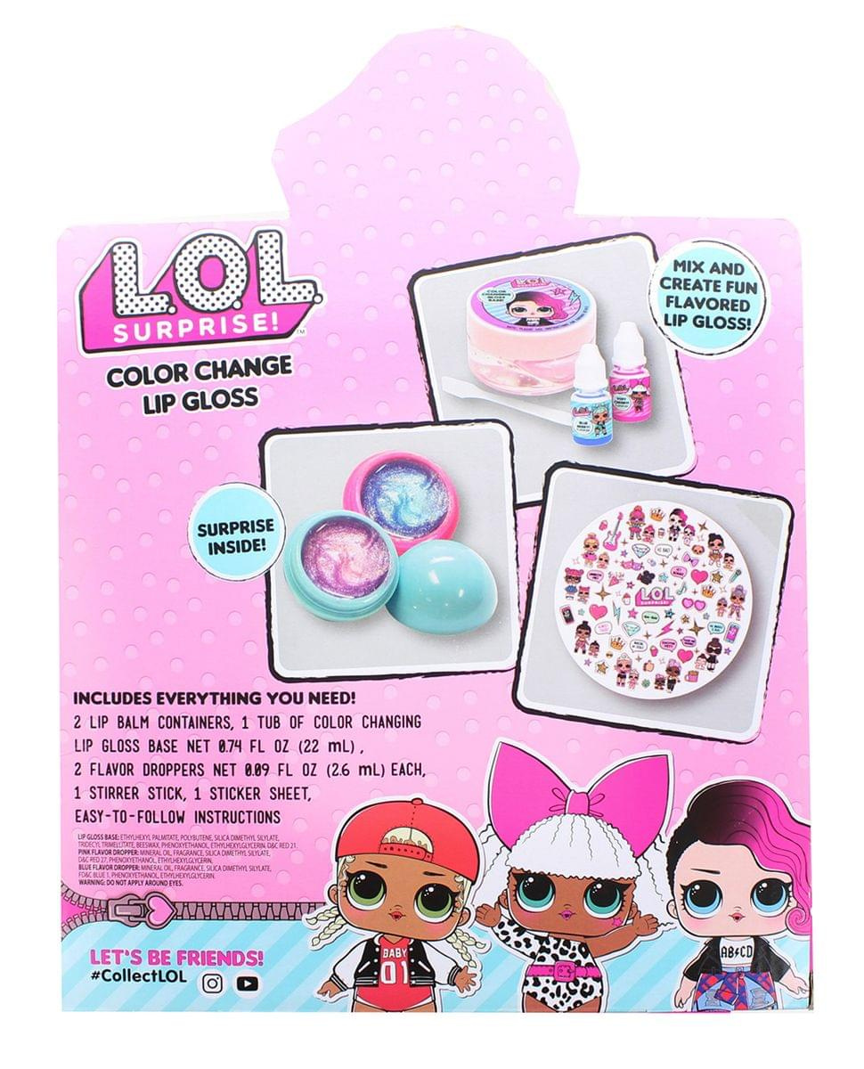 NIP New LOL Surprise Beauty Set Lip Balm Nail Polish Nail Sticker Sheet Bag