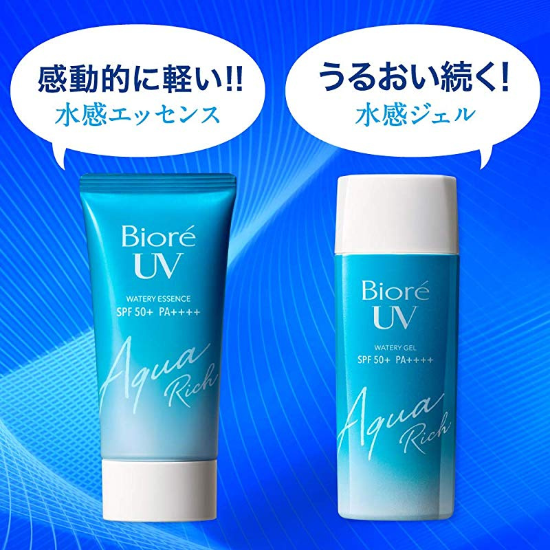 Kao Biore UV Aqua Rich Watery Gel Sunscreen SPF50+ PA++++ Big Size 155ml by  Biore UV - Shop Online for Beauty in the United States