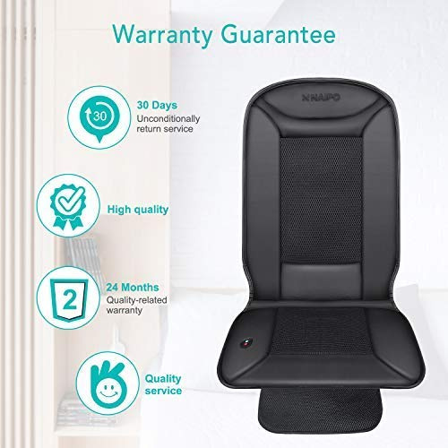 Naipo Car Seat Cushion Seat Cover with Heating and Ventilation Function and 3D Mesh PU Leather Portable Breathable Cover for Car Home Office Chair All-Season Use