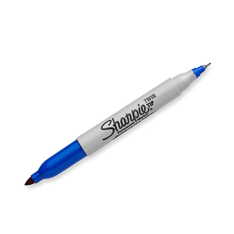 Sharpie Twin Tip Fine Point and Ultra Fine Point Permanent Markers 4 Black Mark