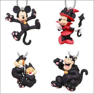 Disney Halloween Black Cat Mascot Series 2 Swing Key Chain Pete