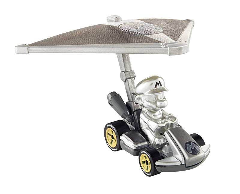 2019 SDCC Mattel Hot Wheels Mario Kart Metal Die-Cast Car Figure Silver In-Stock