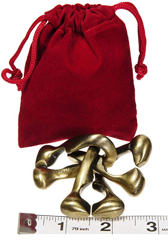 Level 6 Difficulty Rating TRINITY Hanayama Cast Metal Brain Teaser Puzzle New 2018 Design Bonus Red Velveteen Drawstring Pouch      Bundled Items Deluxe Games and Puzzles SG/_B07D7JM9XP/_US