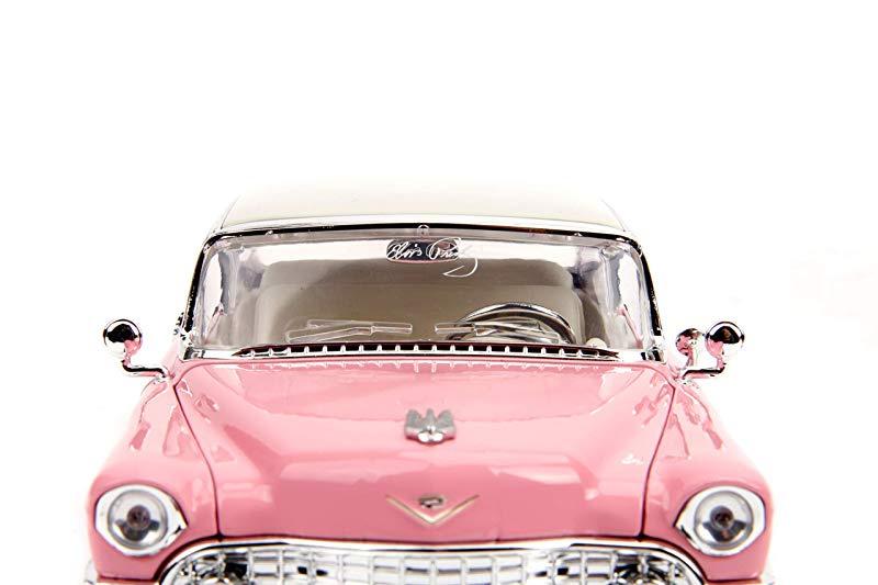 1:24 Jada Cadillac Fleetwood Elvis Presley 1955 pink////white