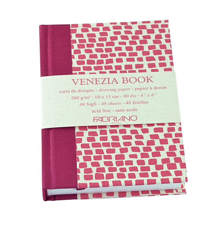 With White Accademia 200gsm Paper Fabriano Venezia Artists Hardback Sketchbooks