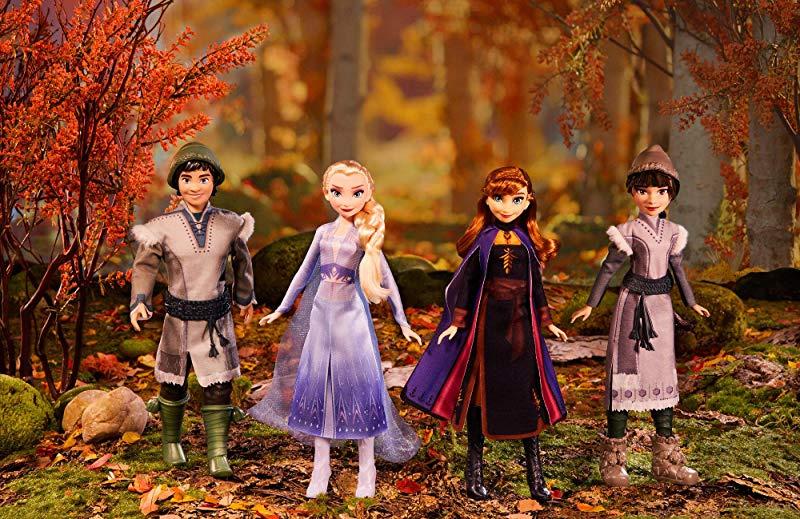 Frozen 2 Forest Expedition Fashion Doll Playset Anna Elsa Ryder Honeymaren Gift