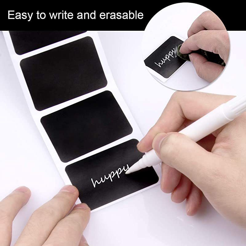 160 PCS Chalkboard Labels Sackorange Pantry Stickers for JARSMason Spice Glas...