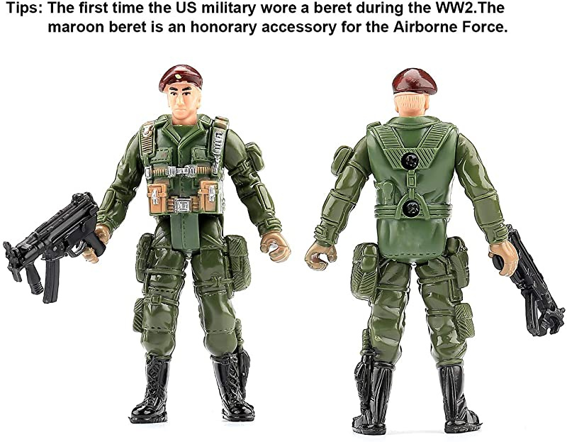 B Pattern TOYANDONA 6pcs US Army Men Action Figures Soldiers SWAT Team Toy Soldiers Action Figures Playset Kids Pretend Play Toys