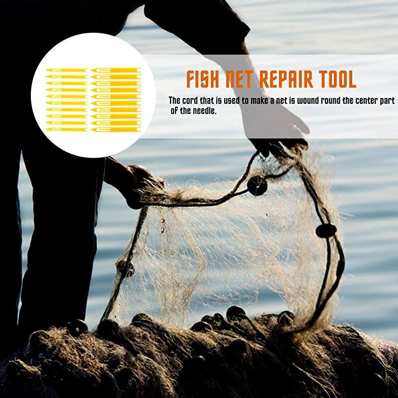 20PCS Plastic Knitting Tool Fishing Net Repair Needle Shuttle Sewing Accessories